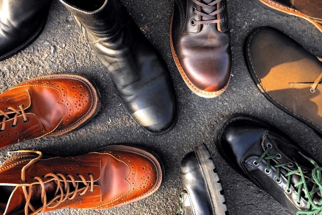 男性用革靴の種類